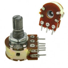 Резистор змінний, потенціометр WH148 B10K лінійний 15мм 10кОм стерео