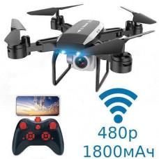 Квадрокоптер Дрон Wi-Fi з камерою 480p складаний 1800мАч 30хв KY606D