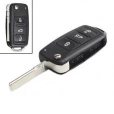 Викидний ключ запалювання, заготівка корпус під чіп, 3 кнопки, VW