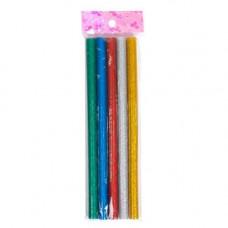 Клей декоративний, стрижні кольорові для клейового пістолета 11мм, 5шт 80г