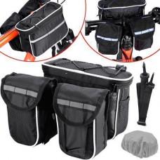 Нарамная сумка для велосипеда, велосумка на кермо, подвійна