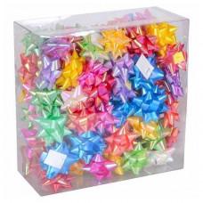 Набір з 100 святкових бантів для прикраси подарунків 5см, перламутрові