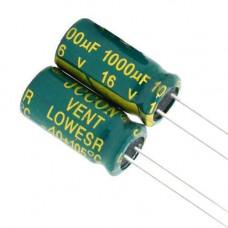 10x Конденсатор електролітичний алюмінієвий 1000мкФ 16В 105С