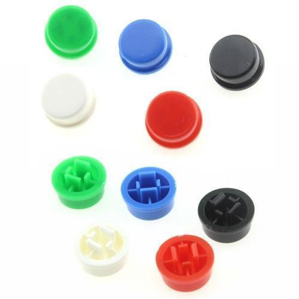 10x Ковпачок круглий тактовою кнопки микрика 12мм, кольору