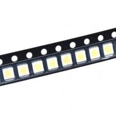 100x 3528 SMD LED 3В 0.2 Вт 21-23лм світлодіод, білий