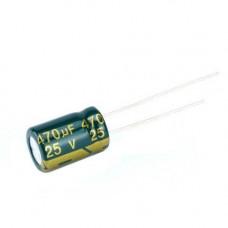 10x Конденсатор електролітичний алюмінієвий 470мкФ 25В 105С