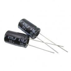 10x Конденсатор електролітичний алюмінієвий 470мкФ 35В 105С