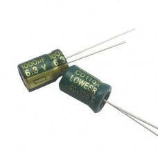 10x Конденсатор електролітичний алюмінієвий 1000мкФ 6.3 В 105С
