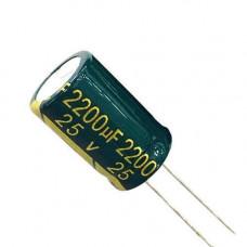 10x Конденсатор електролітичний алюмінієвий 2200мкФ 25В 105С