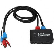 KVM-свич 2-портовый, переключатель USB, 2xHDMI, 4K 60Гц