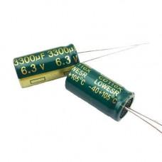 10x Конденсатор електролітичний алюмінієвий 3300мкФ 6.3 В 105С