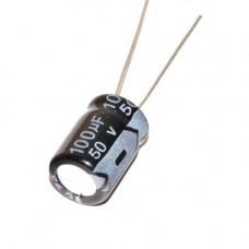 10x Конденсатор електролітичний алюмінієвий 100мкФ 50В 105С