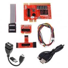 POST карта KQCPET6 V6 тип B, PCI, PCI-E MicroUSB mini PCI-E LPC Android