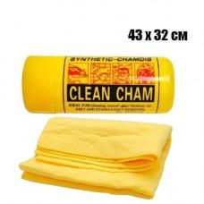 Ганчірка серветка в тубі для автомобіля 43х32см синтетична Clean Cham