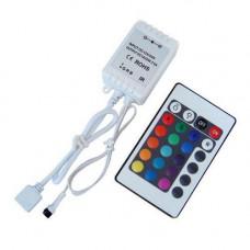 Контролер з пультом ДУ 24 кнопки для RGB SMD 5050 LED стрічки