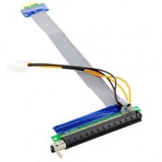 PCI-Express, PCI-E 1X на 16X райзер, харчування, molex