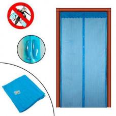 Дверна антимоскітна сітка на магнітах, москітна шторка 100х210см