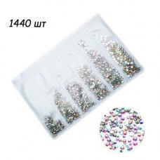1440 кришталевих страз 1.3 мм для нігтів, нейл-арт