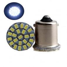 2x LED 1156 BA15S P21W лампа в автомобіль, 22 SMD 5050, білий