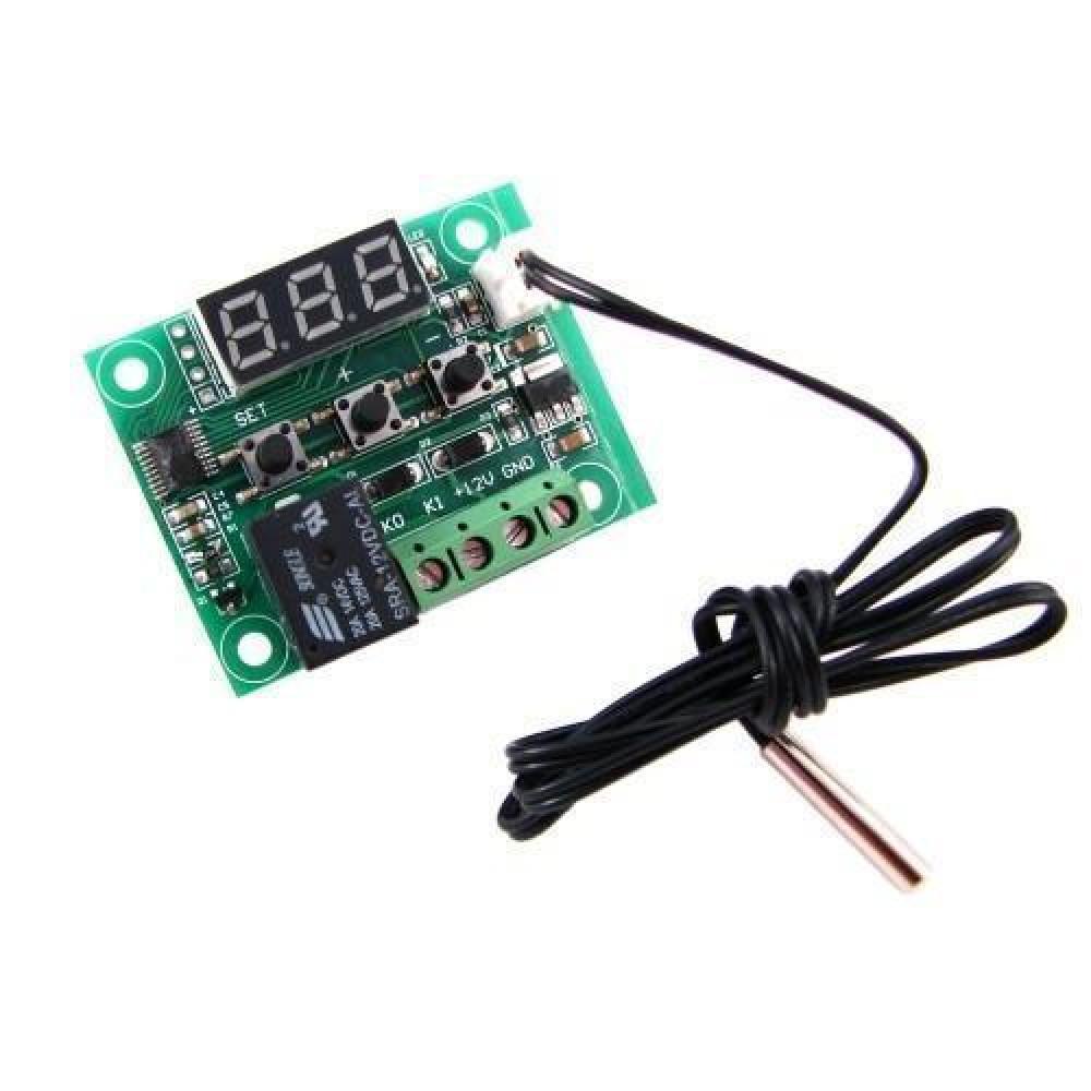 Цифровий міні термостат W1209, -50~110С, 10А, 12В