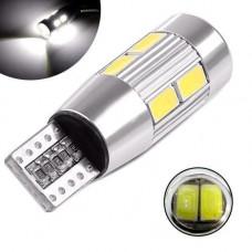 LED T10 W5W лампа в автомобіль, 10 SMD 5630, з обманкою Canbus, білий