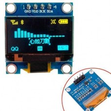 OLED дисплей графічний SSD1306 I2C 4P 0.96 128x64 Arduino, синьо-жовтий