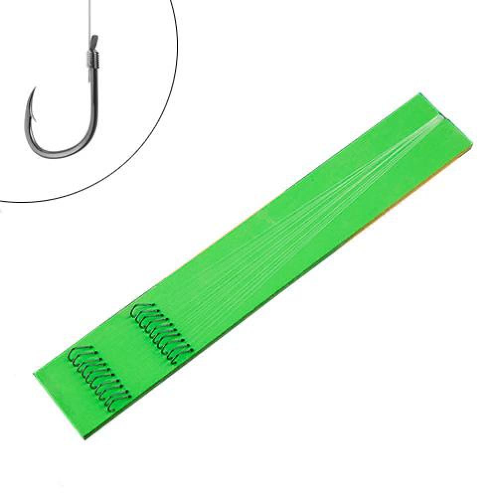 10х Повідець подвійний із волосіні з гачками №4, 0.15мм