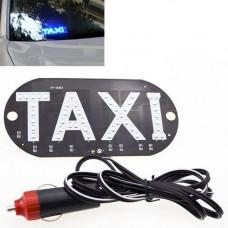Автомобільне LED табло табличка Таксі TAXI 12В, синє в прикурювач