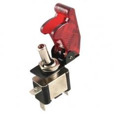 Перемикач, тумблер, вимикач живлення 12В 20А LED, червоний