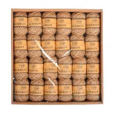 Набір з 24 декоративних джутових шнурів, ниток, мотузок 10м, коричневі