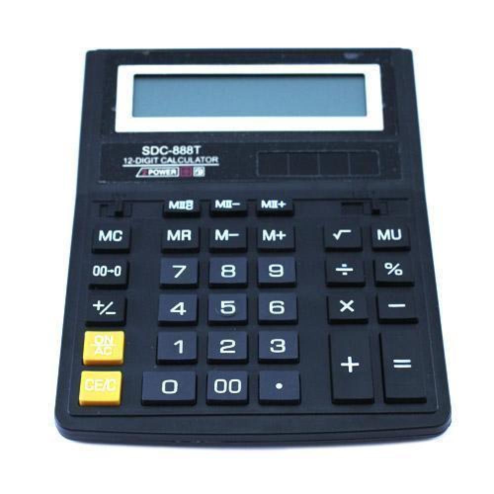 Калькулятор настільний бухгалтерський 20х15см 12-розрядний SDC-888T