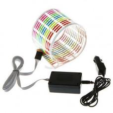 Еквалайзер на скло авто, світломузика, 45х11 см