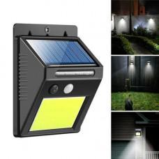 Вуличний LED ліхтар світильник на сонячній батареї, 48 COB, настінний