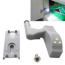 Світлодіодна LED підсвічування меблів шафи на меблеву петлю, білий