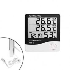 Термометр гігрометр цифровий -50~70C РК 3.8 із зовнішнім датчиком HTC-2