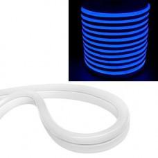 Гнучкий світлодіодний неон SMD 2835 120/м IP68, 1м синій 12В