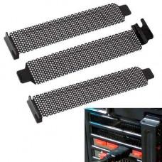 3x Заглушка вентильована для PCI слота корпусу, планка, пиловий фільтр