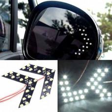 LED покажчики повороту дзеркала заднього виду, білі, пара