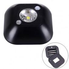 LED світильник лампа з датчиком руху і фоторезистором, чорний