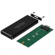 Кишеня для SSD диску M2 NGFF 2230, 2242, 2260, 2280, 6Гбс, USB3.1, метал