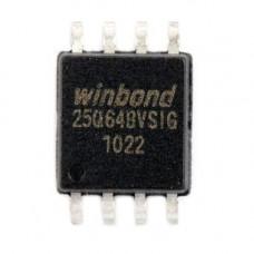 Чіп W25Q64 W25Q64BVSIG SOP8, 64Мб SPI Flash