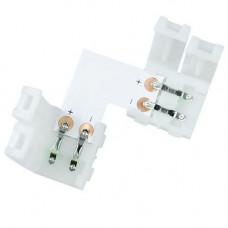 Конектор затискний L-подібний для світлодіодних стрічок 8мм SMD 3528 2835