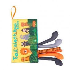 Книга м'яка для дітей розвиваюча тканинна з тваринами Tumama