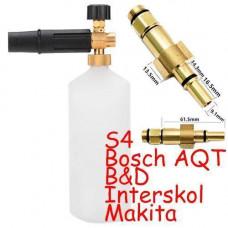 Пінна насадка пінник 1л для мийок Bosch Aquatak Interskol B&D Makita S4