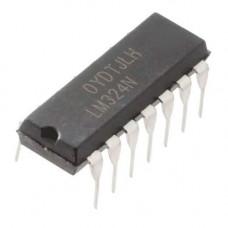Чіп LM324N LM324 DIP14, Операційний підсилювач 4-канальний
