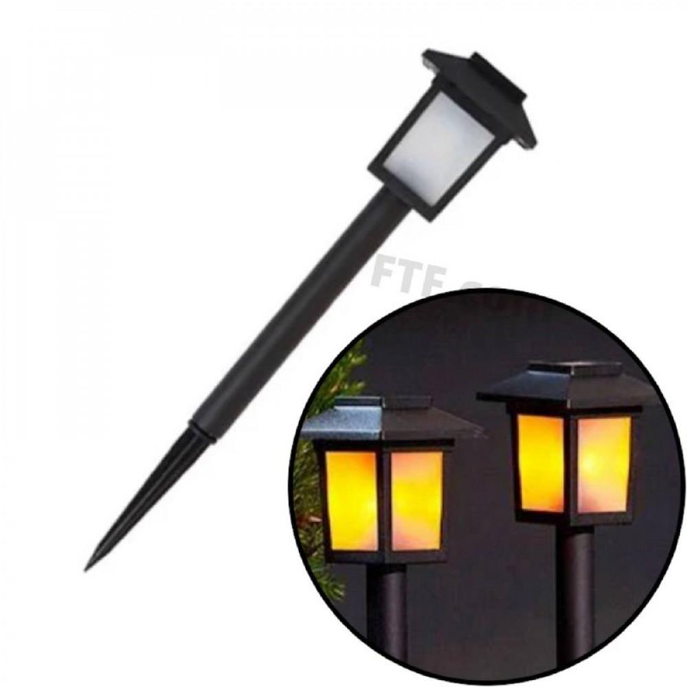Садовий ліхтар в землю, на ніжці, світильник під старовину на сонячній батареї, вуличний світильник, тепле світло