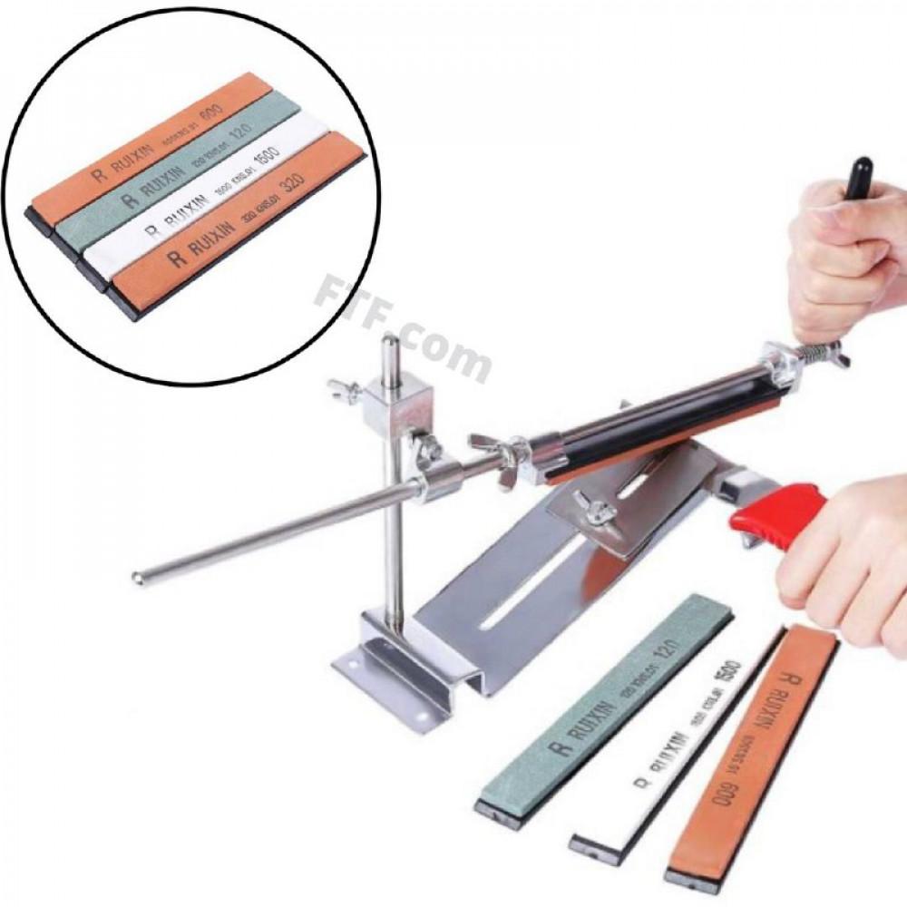Точилка Ruixin Pro III для ножів професійна, нержавіюча сталь, 4 камені