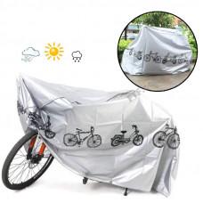Чохол на велосипед, вологозахисний чохол для мотоцикла, скутера, мопеда, 200х65х110 см, поліестер, сірий, велосипедний тент