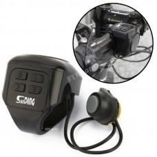 Велодзвінок- сигналізація велосипедна кодова, велосипедний дзвінок SunDing SD-605, велосигналізація гучна