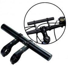 Розширювач керма велосипеда, самоката, розвантаження вело керма з двома прямими, органайзер на велосипед, чорний
